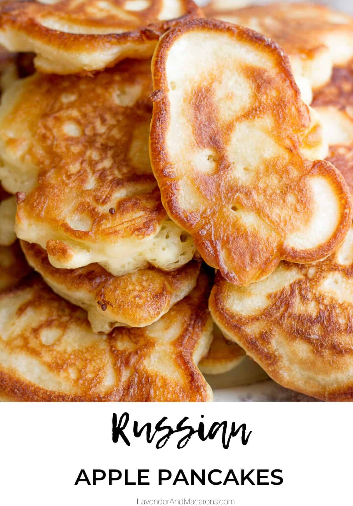 Russian Oladi Pancakes pinterest image