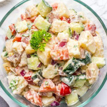Potato salad with no-mayo dressing