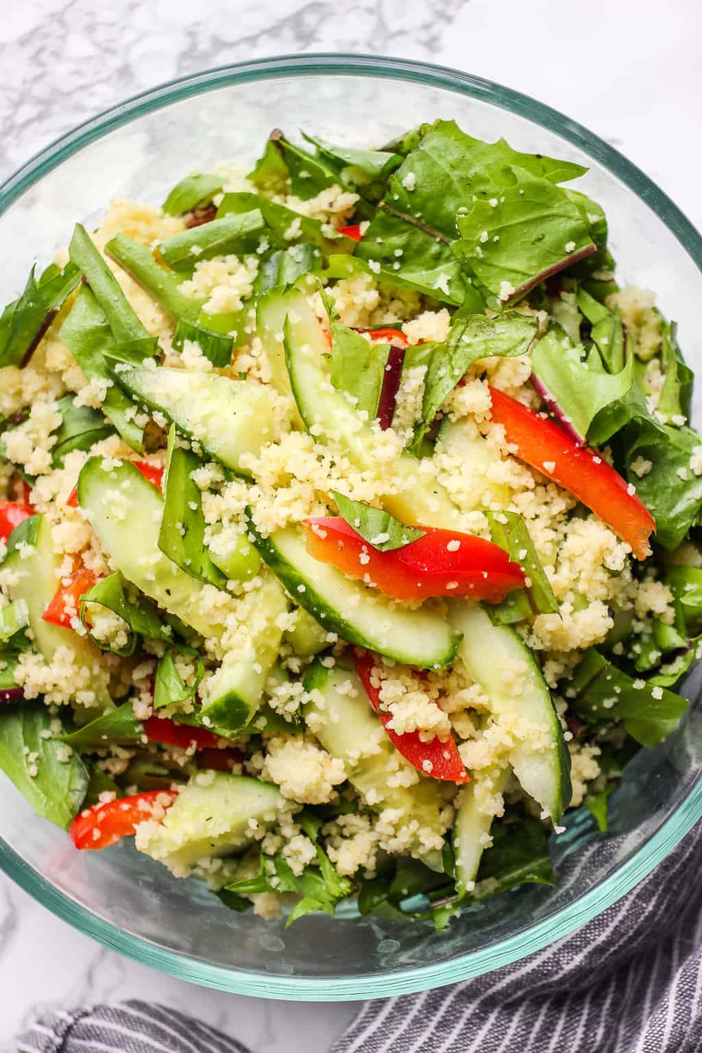 Dandelion Greens Salad With Couscous