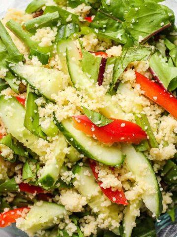 Dandelion Greens Vegan Salad