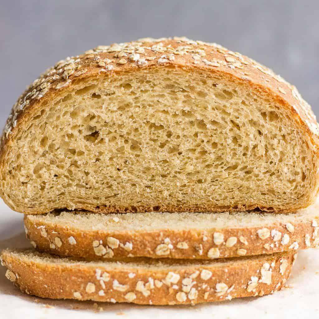 oat bread slices
