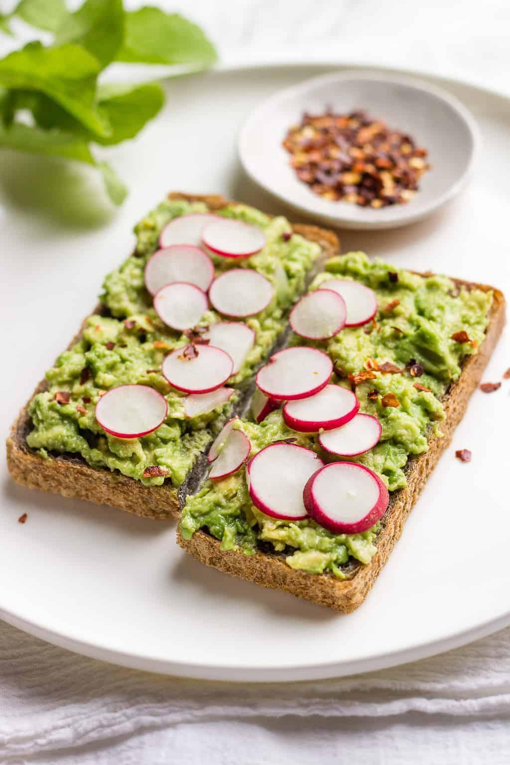 Vegan Avocado Sandwich on a plate