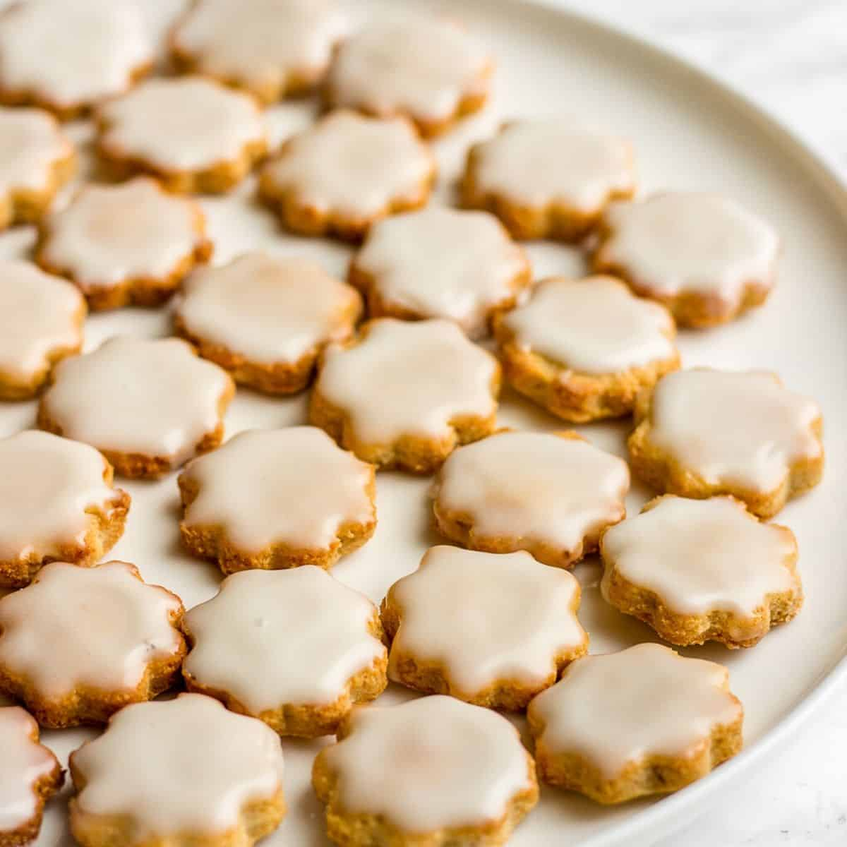 gluten-free almond banana cookies on a plate