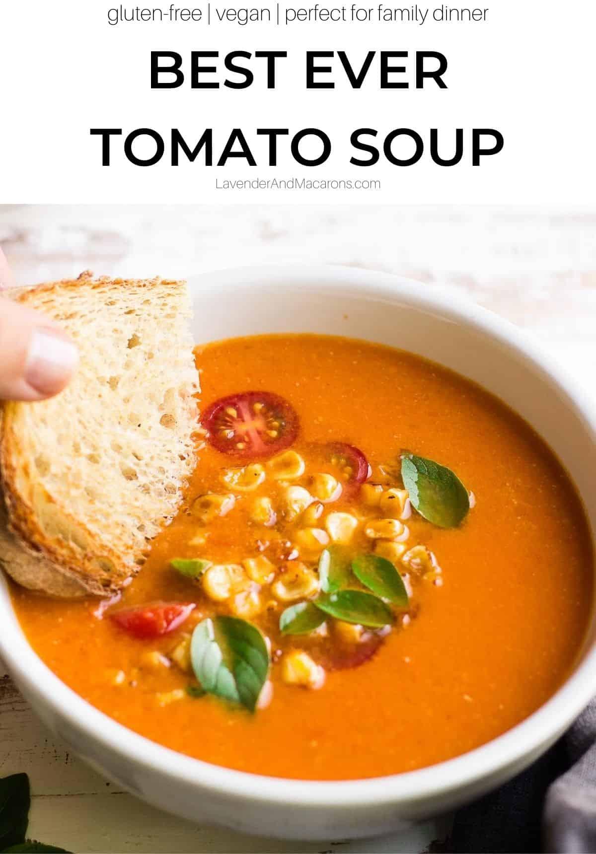 Summer Soup Pinterest image