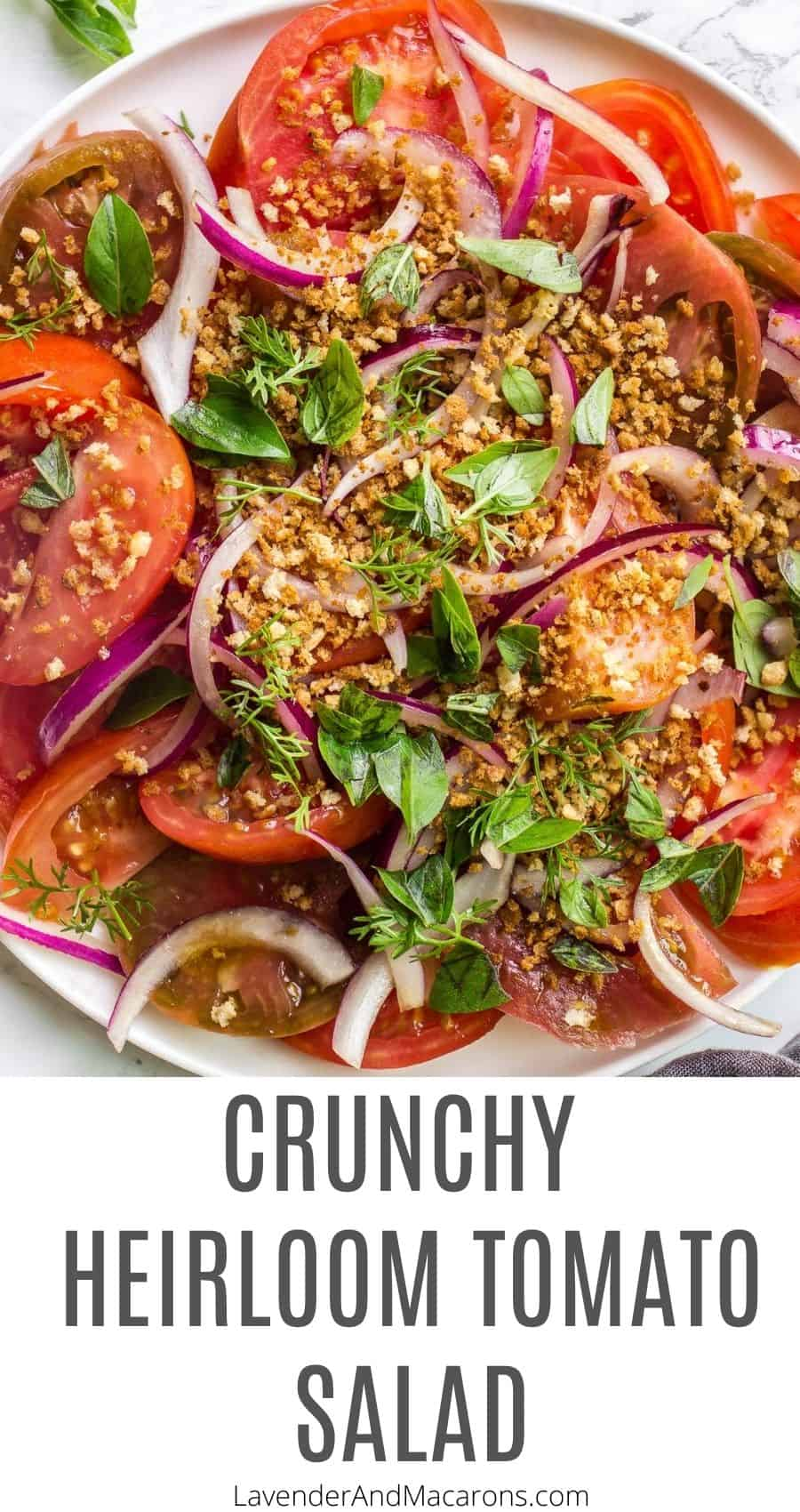 Crunchy Salad with tomatoes