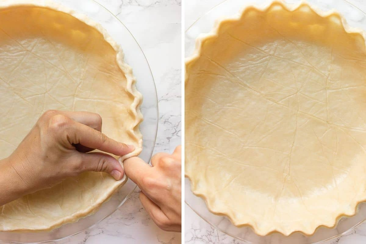 How to trim the edges in pie crust