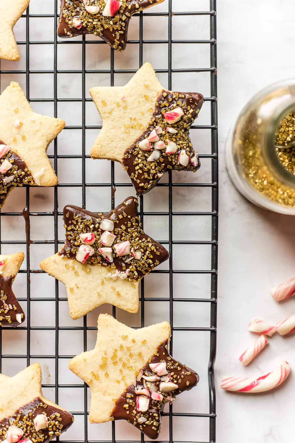 Almond Chocolate Candy Cane Cookies