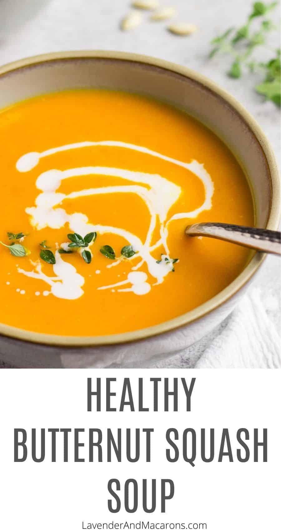 Butternut Squash Soup pin image