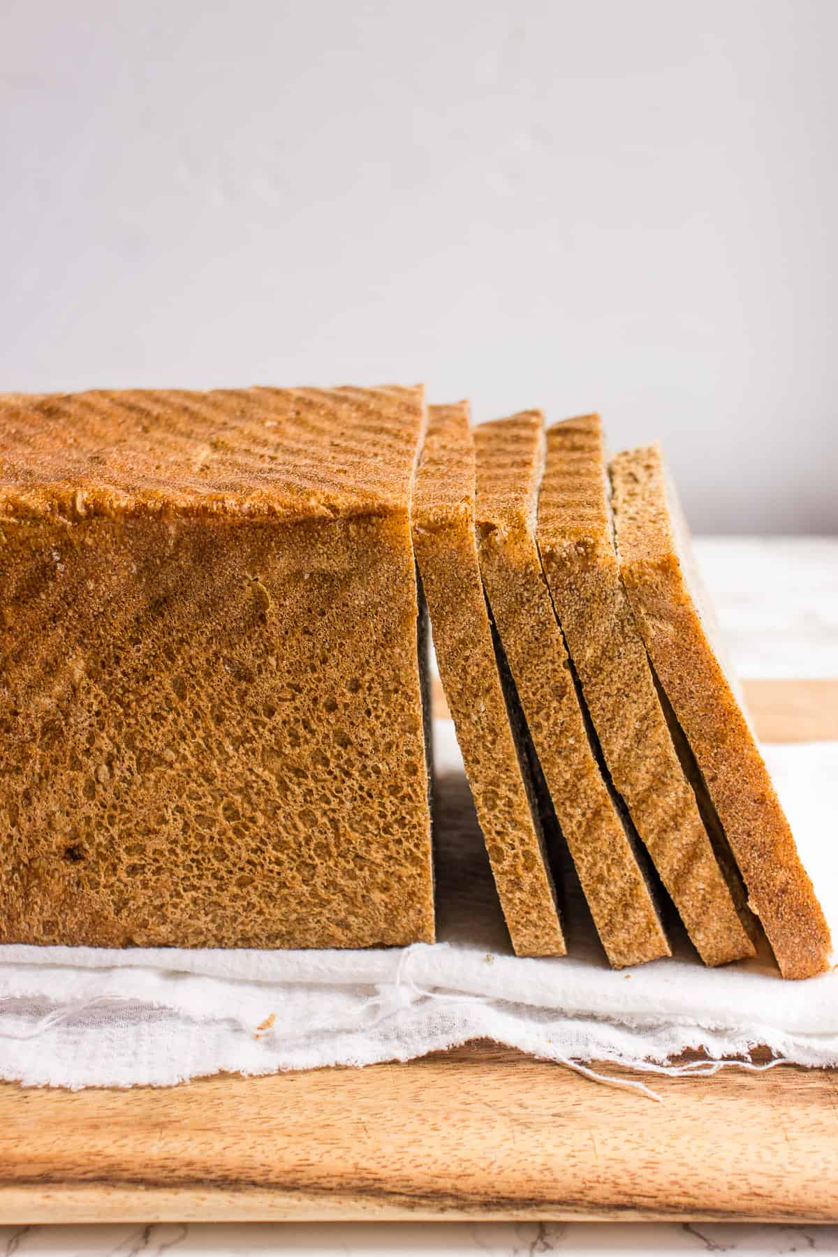 Sliced buckwheat sandwich bread
