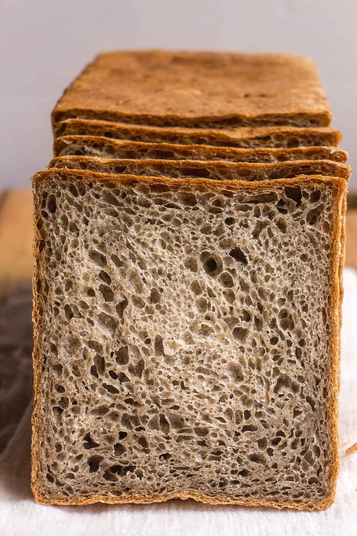 Slices of healthy buckwheat bread