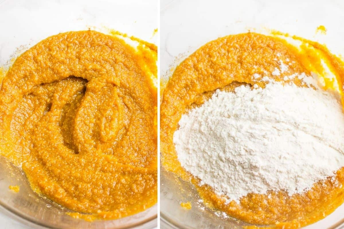 How to make a batter for pumpkin cookies