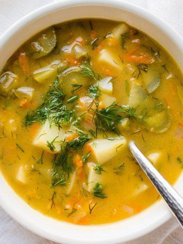 Vegan Dill Pickle Soup