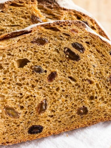 Slices of Swedish Limpa bread