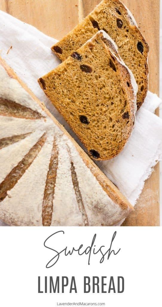 Pinterest image of Limpa bread