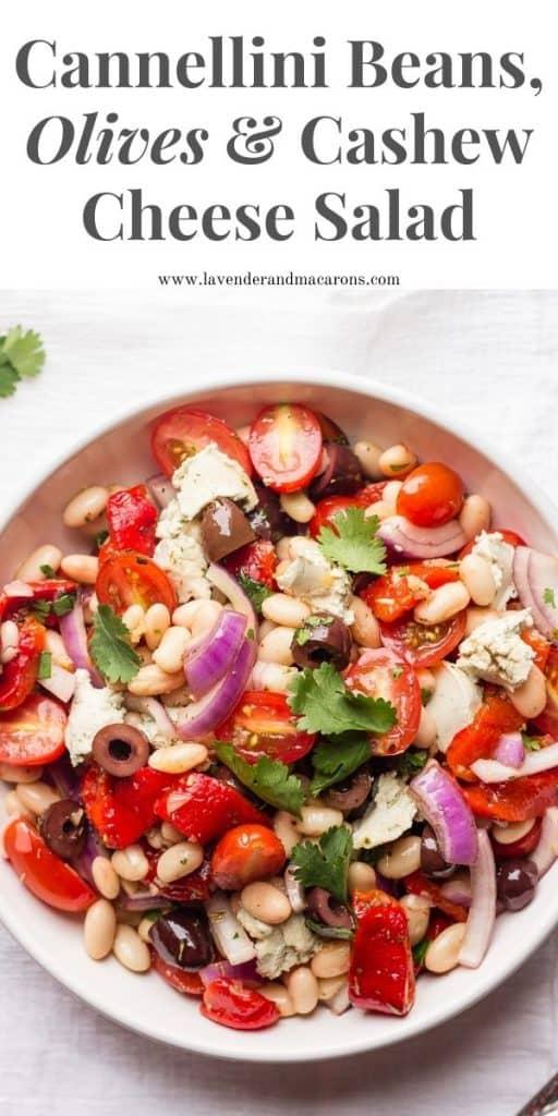 Pin image for White bean salad