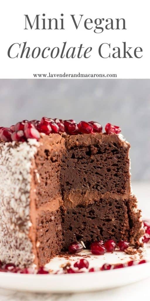 Mini dairy-free cake pin