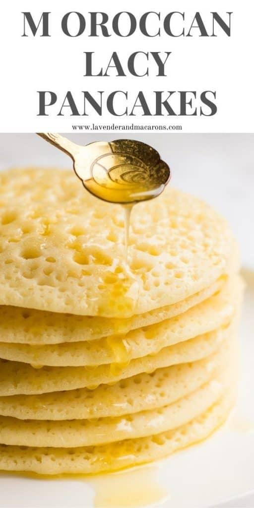 Moroccan yeast pancakes pinterest image