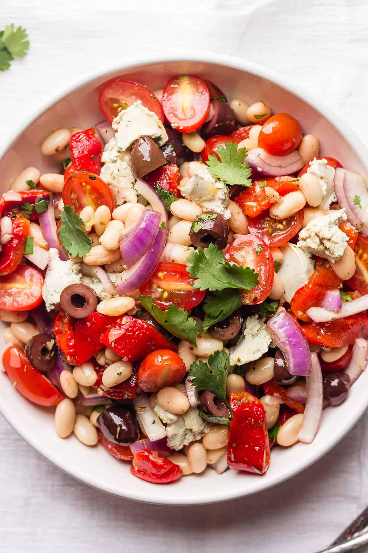 Overhead shot of Cannellini Bean Salad