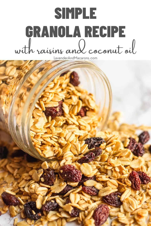 Simple Granola Recipe in a mason jar
