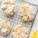 Eggless Moroccan Semolina Cookies on wire rack