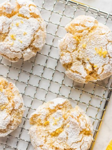 Eggless Moroccan Semolina Cookies on wire rack