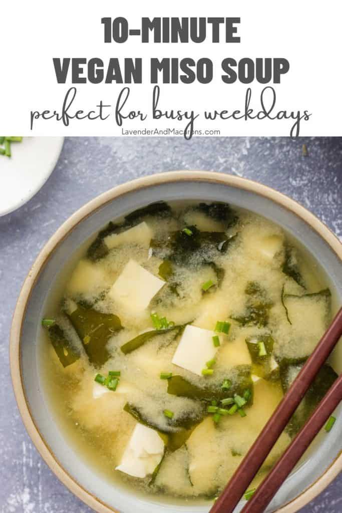 Pinterest image of Japanese Miso soup