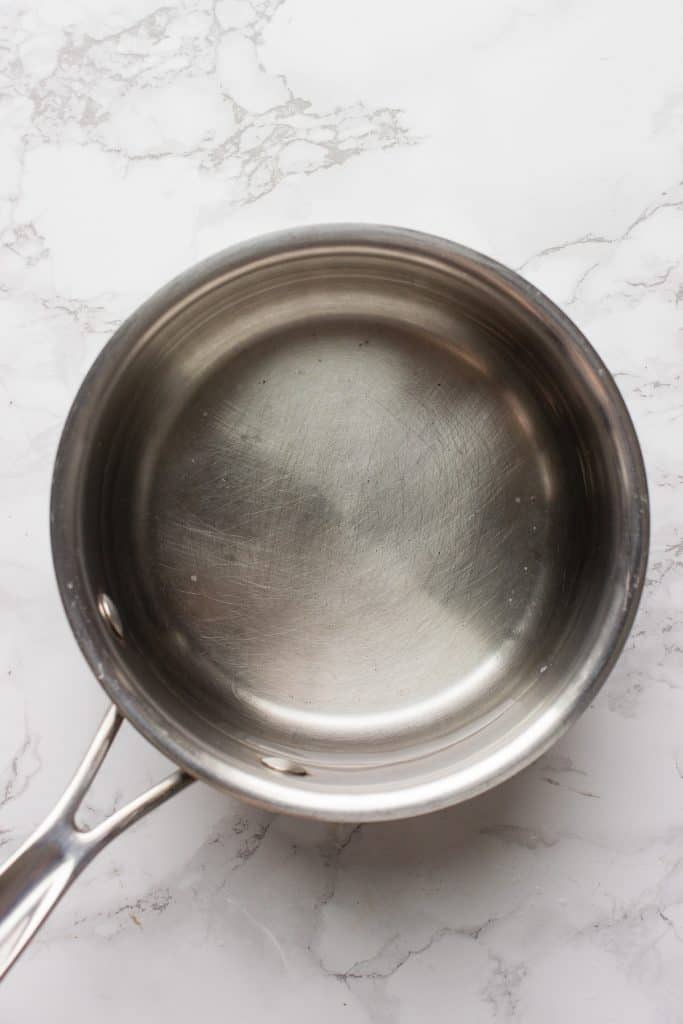 Boiling water for Miso soup