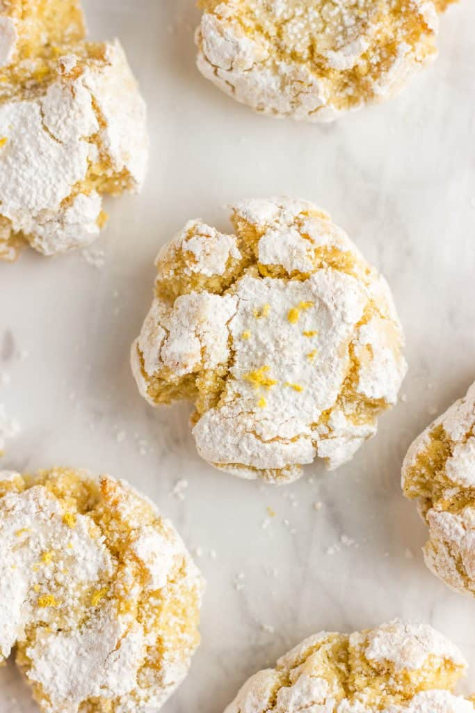Moroccan Semolina Almond Cookies on a white background