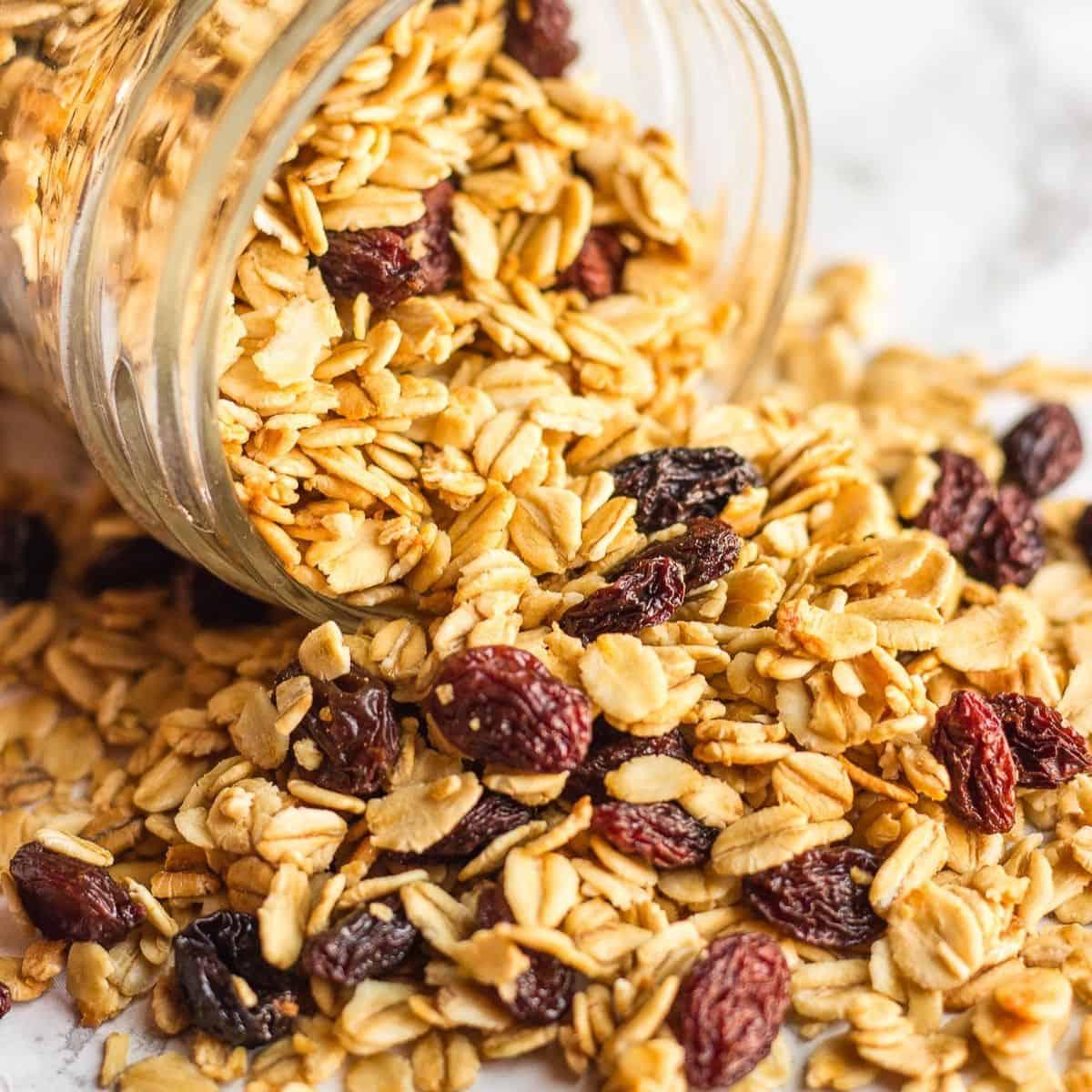 Simple Granola Recipe With Coconut Oil Raisins Lavender Macarons
